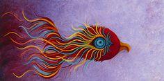 "Phoenix ~ Rising from the Ashes and awakening to a new self.  http://pixels.com/featured/awakening-karen-balon.html ""Awakening"" Oil on Canvas © Karen Balon"