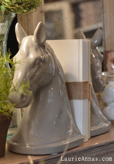 I have some horse head bookends that went from bronze to silver for a Kentucky derby party and back to bronze for my mantle but I like this gray.