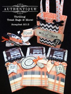"Authentique Paper ""Thrilling Treat Bags & More"" workshop for #Archivers #Scrapfest13"