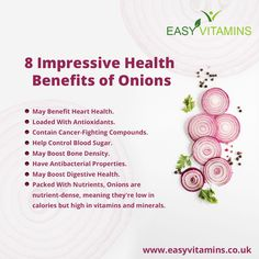 Onion Benefits Health, Bone Density, Living A Healthy Life, Heart Health, Vitamins And Minerals, Fruits And Vegetables, Onions, Health Fitness, Nutrition