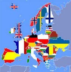 Χάρτης σημαιών Ευρώπης