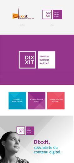 Identité visuelle Dixxit - Graphéine - Agence de communication Paris LyonGraphéine – Agence de communication Paris Lyon