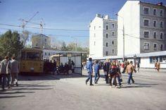 """Фото 1985 г. Р. Ньюхаузера. Конечная автобусная станция """"Новослободская"""