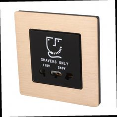 52.90$  Watch here - http://alirbe.worldwells.pw/go.php?t=32643364525 - New A8-025 champagne aluminum shaving socket shaver socket switch hotels