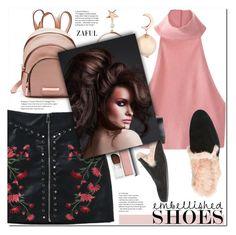 """""""Magic Slippers: Embellished Shoes"""" by duma-duma ❤ liked on Polyvore featuring Clinique, Ilaria Ranieri, Sloane and embellishedshoes"""