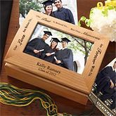 """""""Our lives are before us, our past is behind us, but our memories are forever with us."""" This exclusive keepsake box makes the perfect personalized gift for any graduate! Unique Graduation Gifts, Pre K Graduation, Graduation Party Planning, Personalized Graduation Gifts, College Graduation Gifts, Grad Gifts, Graduation Ideas, Homeade Gifts, Photo Memories"""