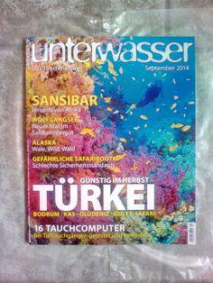 Unterwasser!Das Tauchmagazin!September 2014!Neu!