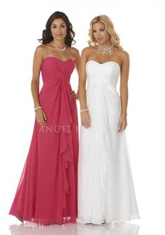 Scoop Chiffon Empire A line With Draping Bridesmaids