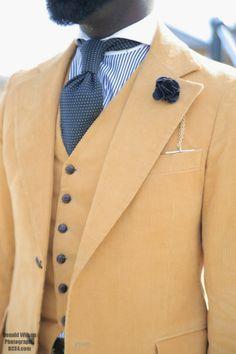 over the weekend: corduroy suit