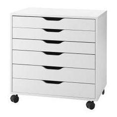 ALEX Cassettiera con rotelle, bianco - 67x66 cm - IKEA