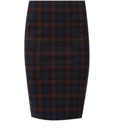 Try this check pencil skirt with a burgundy cami and caged wedges for a chic evening look- add courts for the office.- All over print- Slim fit- Elasticated waist- Stretch jersey fabric- Skirt length: 25