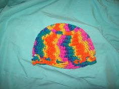 CLEARANCE Toddler's Hat Multi Colored  Crochet Hat by amydscrochet