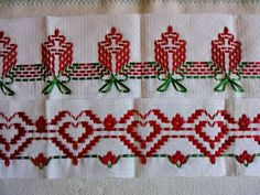 Swedish Embroidery, Swedish Weaving, Ribbon Embroidery, Lily, Tape Art, Towel Bars, Handmade Embroidery Designs, Embroidery Ideas, Crochet Throw Pattern