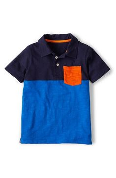 Boy's Mini Boden 'Slub Jersey' Polo