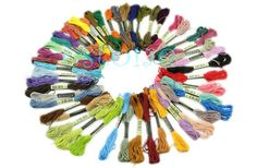 50 pcs Anchor Cross Stitch Cotton Embroidery Thread Floss Sewing Skeins Craft