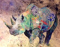 Elaborate Textile 'Collages' of African Wildlife by Sophie Standing. I love the idea of these textile collages - so many possibilities. Art Du Collage, Online Galerie, Frida Art, Colossal Art, Animal Quilts, African Textiles, Arte Pop, African Animals, Textile Artists
