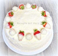Rezepte mit Herz ♥: Erdbeer - Raffaello - Torte