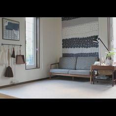 haluta/タペストリー/ハンカチ×フレーム/掃除道具/宮崎椅子製作所/ソファ…などのインテリア実例 - 2015-08-23 14:00:29 | RoomClip(ルームクリップ)