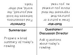 Education to the Core: FREE Cooperative Learning Table Card for Literacy Circles!