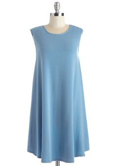 My Stride and Joy Dress. Chic, versatile, and ever-so soft, this sky-blue shift dress never fails to send you on your way with cheer. #blue #modcloth
