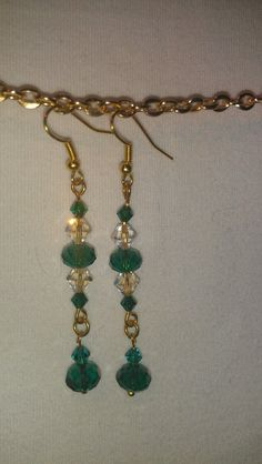 I love these. They are a beautiful emerald green. (bracelet to match).