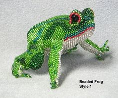 Beaded Frog  green