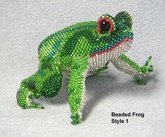Beaded Frog  green