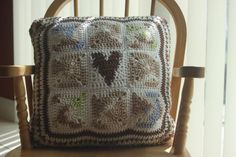Sunflower field/Heart Pillow by VeesAccessories on Etsy, $25.00