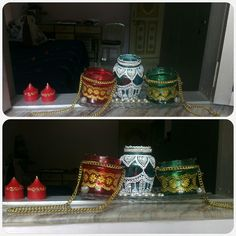 Diwali deco out of jars