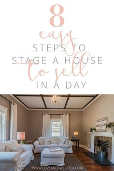 I'm going to share my favorite home staging tips for a quick sale! We just listed our house for sale. It's been a long journey to this point, but when all is said and done, we have a beautiful house as an end product. And staging the house was just the cherry on top. We sold our last house in 36 hours and this house already has 3 offers on it!  This is the general overview of how to stage a home. Check out this post if you want a detailed step-by-step list of how to stage your house to sell.