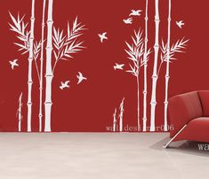 Vinyl Wall Decals wall Stickers Bamboo Decal by walldecals001, $94.00