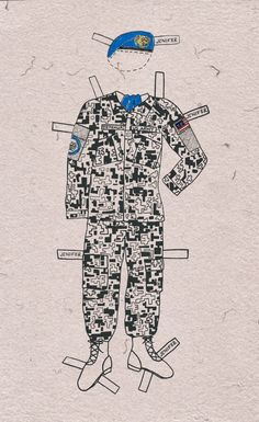 Artist Pam DeLuco has put a contemporary twist on paper dolls by depicting US military uniforms to explore the lives of women in the armed forces. (via Huffington Post)