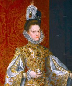Alonso Sanchez Coello: Portrait of Infanta Isabella Clara Eugenia (detail) (ca. 1586)