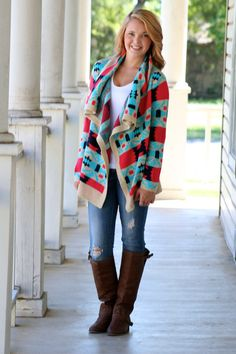 584445e246b6 Tletl Aztec Cardigan -- got this at ross! lol what a steal!