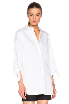 Tibi Tie Sleeve Tunic in White