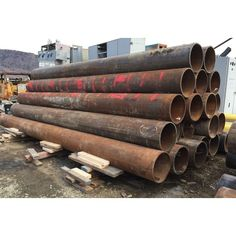 10 in. diameter.  1400 ft. available.  Schedule 80.  Extra heavy.  Bare, clean, no rust.  8 ft. - 17 ft. lengths.    View more Steel Pipe