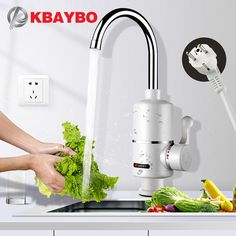 Kitchen Water Heater with EU Plug Instant Water Heater, Kitchen Prices, Panic Rooms, Water Tap, Water Heating, Buy Kitchen, Faucet Kitchen, Ali Express, Smart Water