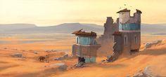 Deserted Desert, Andrew Porter on ArtStation at http://www.artstation.com/artwork/deserted-desert