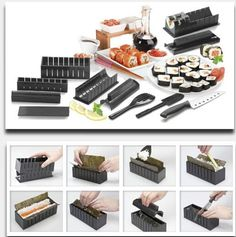 Sushi Maker Kit Rice Roll Mold Kitchen Diy Easy Chef Set Mould Roller Cutter