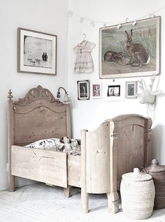 + love the antique look, but also remind myself of the wall of family heirlooms? for the basement or one of the kids' walls?