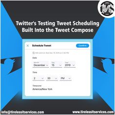 Announces Scheduling Upgrade for TweetDeck, this will help social media managers - Twitter has announced that TweetDeck, it's own tweet scheduling and tracking app, will now support the scheduling of tweets with videos or multiple images. Are you excited?  #twitter #twitternews #tweets #tweetscheduling #socialmedia #socialmediamarketing #digitalmarketing Social Media Marketing, Digital Marketing, Twitter Tweets, Internet Marketing Company, Tracking App, Multiple Images, Schedule, Management, Videos