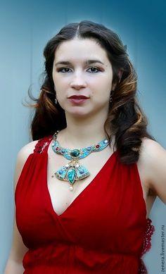 necklace-brosh  IZIDA. $260.00, via Etsy.