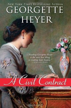 A Civil Contract by Georgette Heyer, http://www.amazon.com/dp/1402238770/ref=cm_sw_r_pi_dp_6ipzrb17ZDJVK