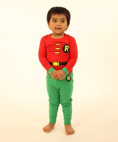 Take a look at the Red & Green Robin Pajama Set - Infant, Toddler & Boys on #zulily today!