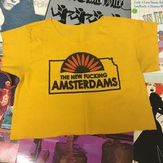 ☀️concert crop top☀️ I bought this at Dashboard Confessional at The Bowery  in 2002. The opening act was The New Amsterdams. Made it into a crop top. Sigh it's very sentimental. Vintage Tops Crop Tops