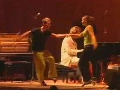 This is a pianist from Switzerland who plays some of the best Boogie Woogie anywhere. He is so BIG over there, they hold a week-long Boogie Woogie contest every year. In this video he is joined by two amazing dancers. The  male dancer even has a haircut from the 1940's.  If you can take your eyes off the wonderful female dancer, the male dancer is super. He never moves his shoulders relative to what his feet and knees are doing. And the top of his head stays at the same height no matter what.