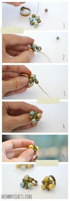 wire ring. Craft ideas 5327 - LC.Pandahall.com