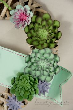 Succulent door decoration