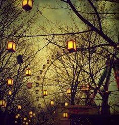 Ferris Wheel and Lanterns