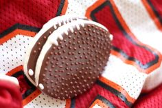 Football Sugar Cookies For Dad by SugarLaneBakeShop on Etsy, $28.20 #Ultimate Tailgate and #Fanatics